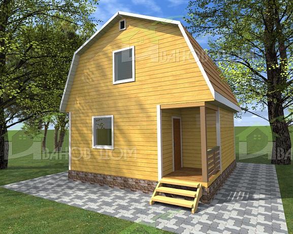Каркасный дом с мансардой 6х6 под ключ НЕДОРОГО, проекты, цены и фото в Волхов